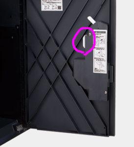 このレバーに触れると 施錠が解除されます。